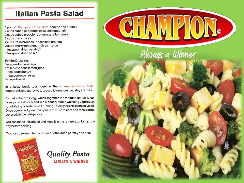 Recipe - Italian Pasta Salad