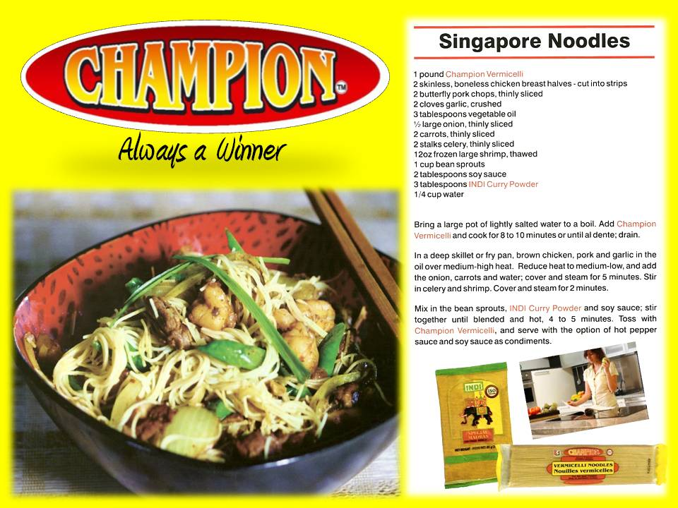 Recipe - Singapore Noodles